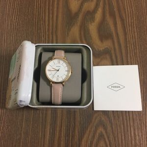 Accessories - Fossil Rose Gold Watch Blush Leather Strap